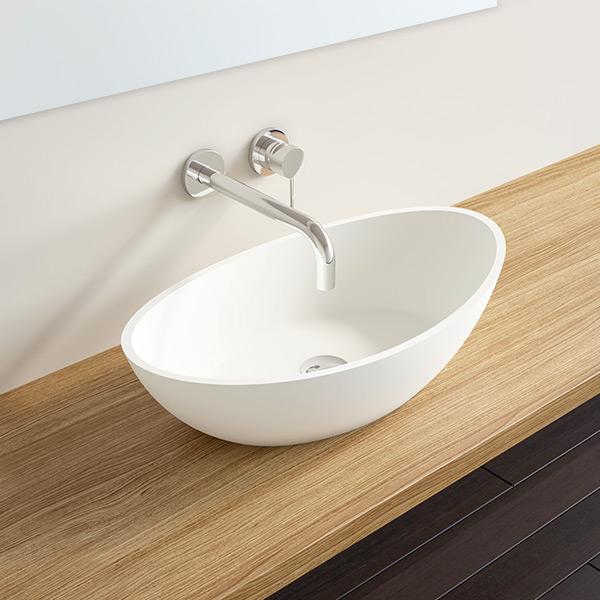 mineralguss waschbecken wb 03 in matt und gl nzend von badeloft. Black Bedroom Furniture Sets. Home Design Ideas