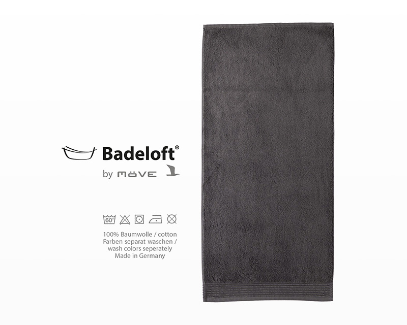 shower and bath towel in anthracite by badeloft in. Black Bedroom Furniture Sets. Home Design Ideas
