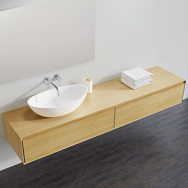 Edle Badezimmer Möbel In Eiche Natur Und Dunkler Eiche